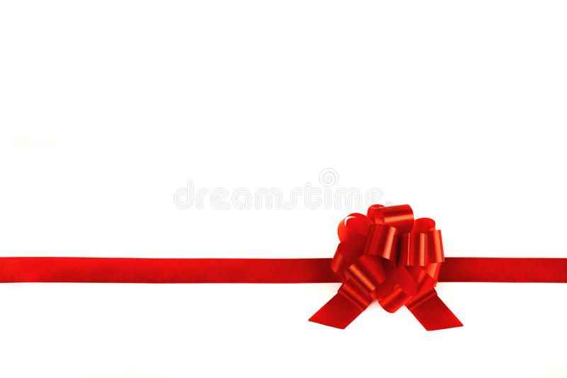Download Ribbons Tied With A Red Bow Stock Image - Image of celebration, shape: 22093589