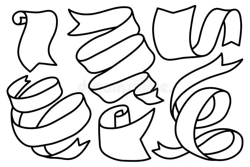 Ribbons vintage isolated on white background. Design element for poster, card, banner. Vector illustration vector illustration