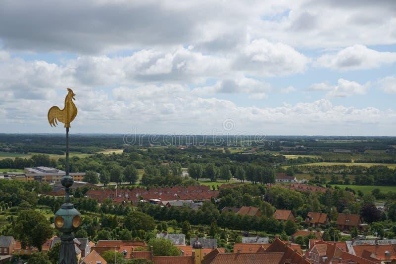 Ribe stad i Danmark royaltyfria bilder
