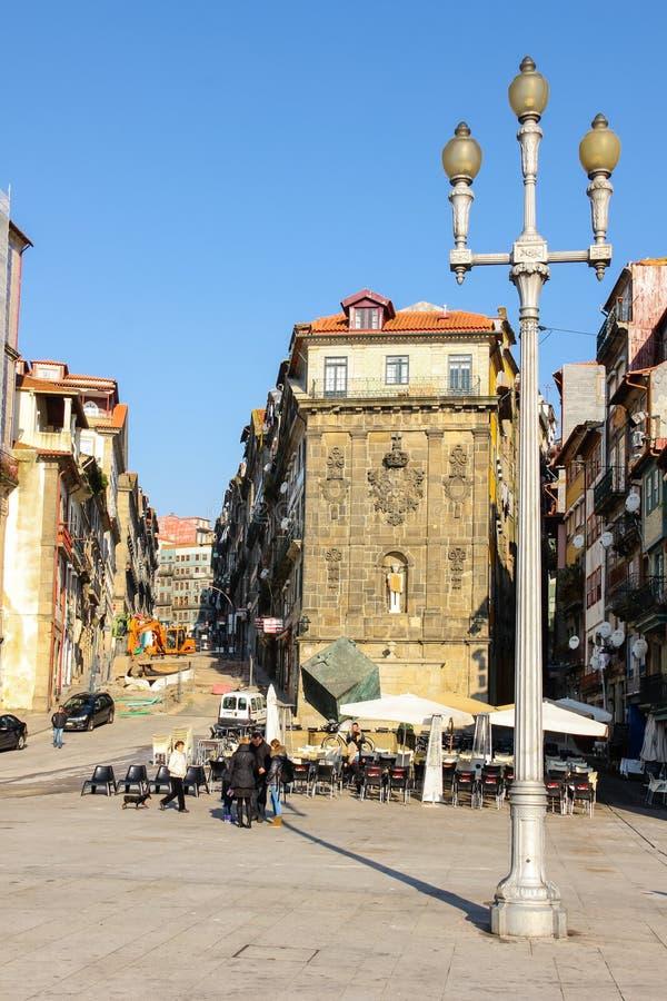 Ribeira kwadrat w starym miasteczku. Porto. Portugalia obraz stock