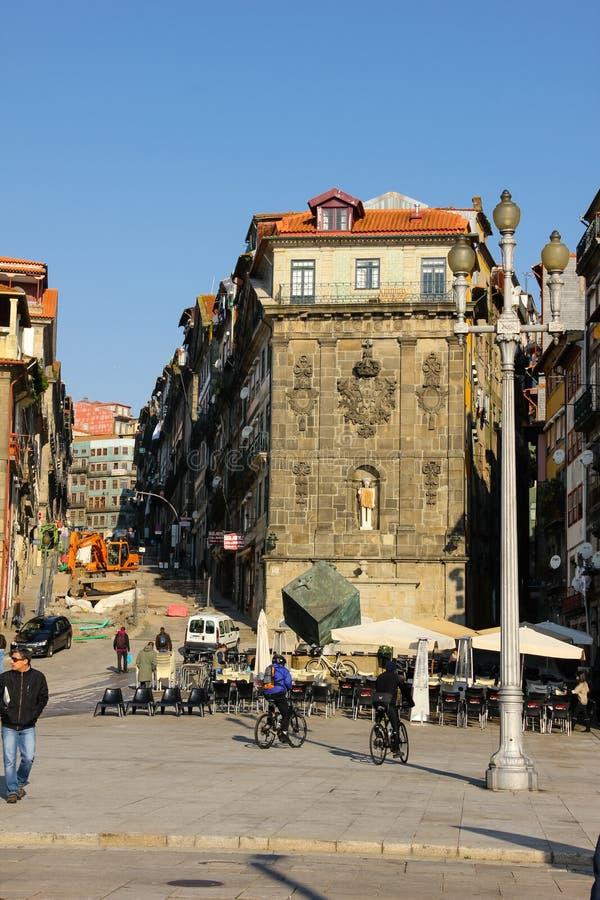 Ribeira kwadrat w starym miasteczku. Porto. Portugalia fotografia stock