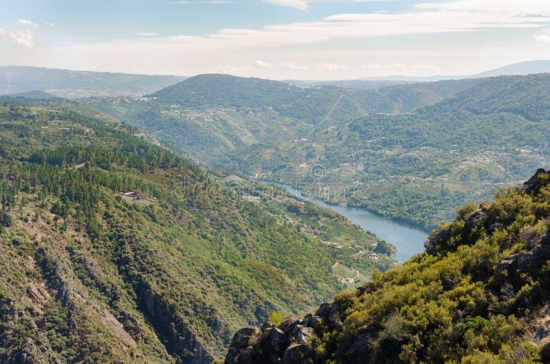 Ribeira Sacra, Galicia, Spanien royaltyfri foto