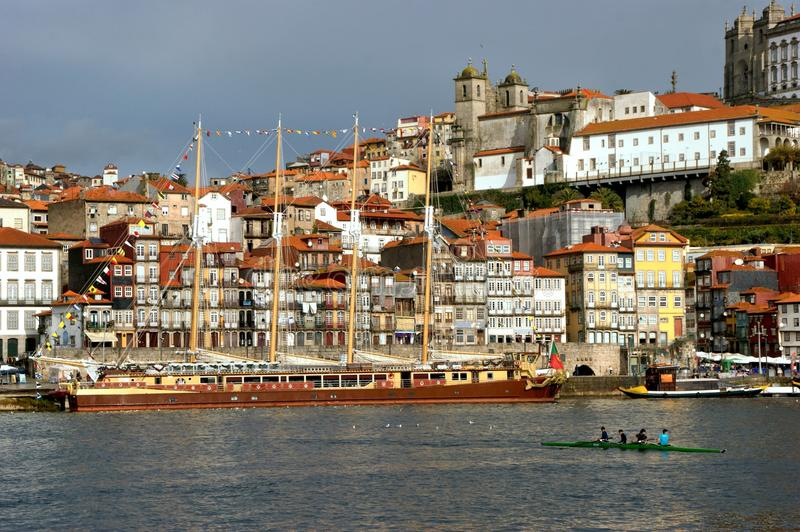 Ribeira view in Oporto royalty free stock photography