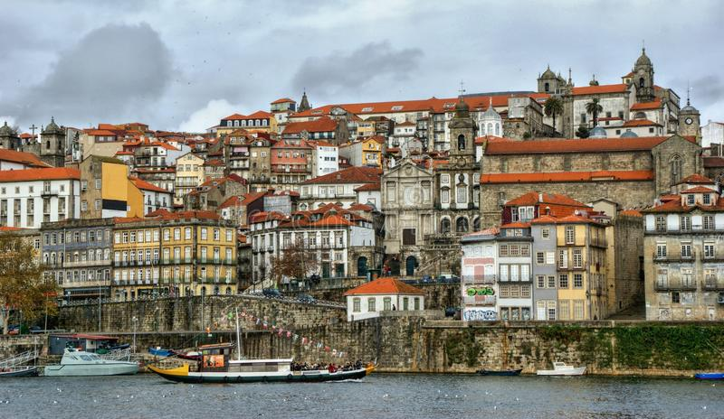Ribeira view in Oporto royalty free stock images