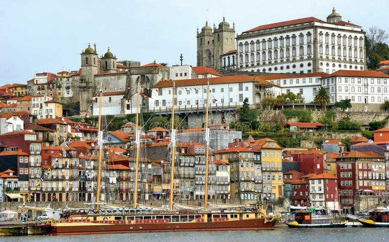 Ribeira view in Oporto royalty free stock image