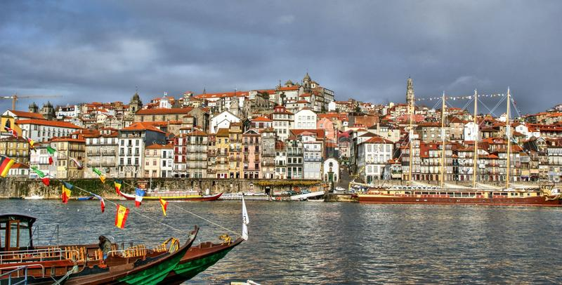 Ribeira view in Oporto royalty free stock photos