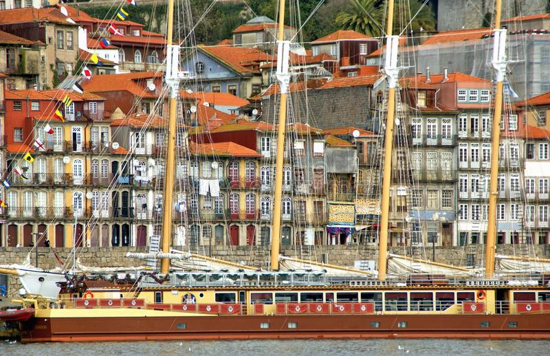 Ribeira view in Oporto stock photography