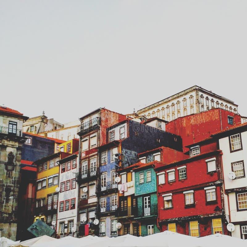 Ribeira wybrzeża barwiący pudełka obraz royalty free
