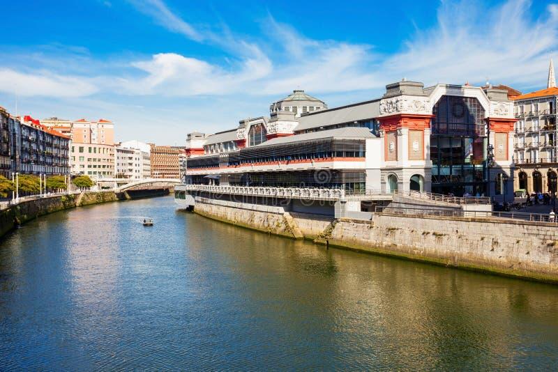Ribera marknad i Bilbao, Spanien fotografering för bildbyråer