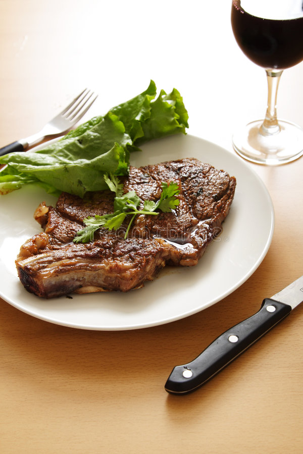 Ribeye steak stock photos
