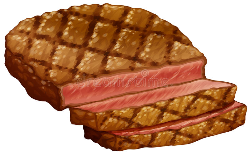 Ribeye stek ilustracja wektor