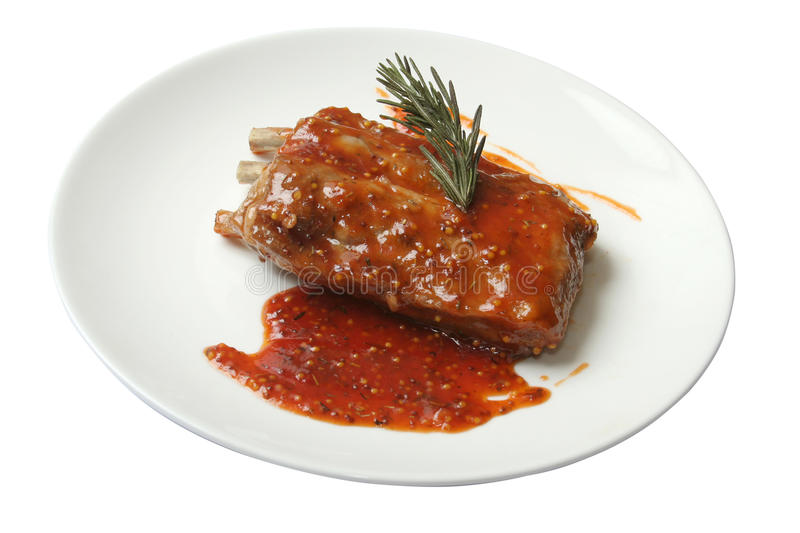 Download Ribs are in a sharp sauce stock image. Image of dish - 28454733