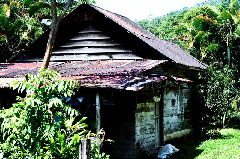 Rica-Dschungel-Haus lizenzfreies stockfoto
