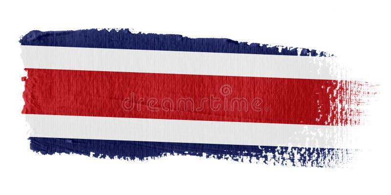 rica för penseldragcostaflagga stock illustrationer