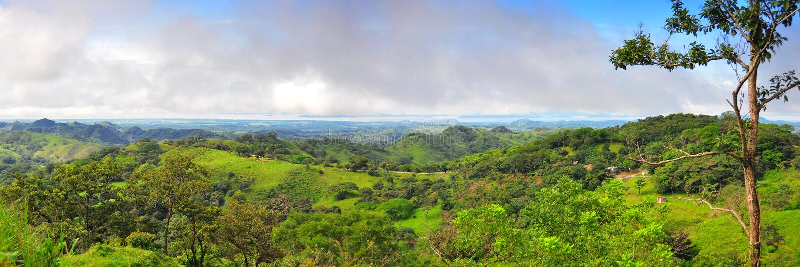 Rica-Landschaftspanorama lizenzfreie stockfotografie