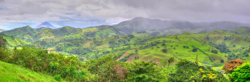 Rica-Landschaftspanorama lizenzfreie stockfotos