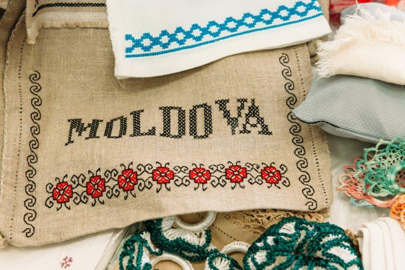 Ricamo ed ornamenti nazionali moldavi immagine stock
