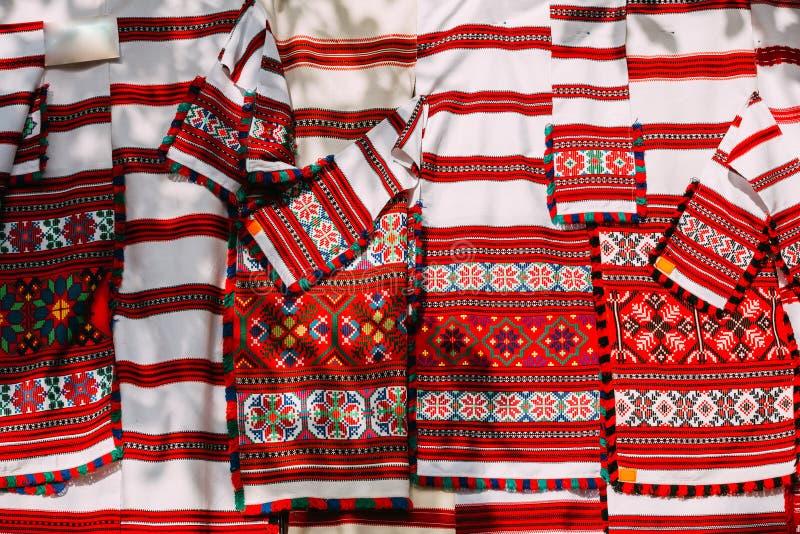 Ricamo tradizionale dell'ornamento del modello dello slavo Cultura della Bielorussia immagine stock libera da diritti