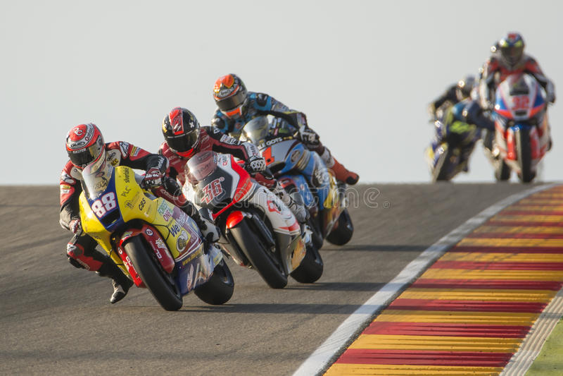 Ricard CARDUS Moto2 Uroczysty Prix Movistar Aragà ³ n MotoGP obrazy stock