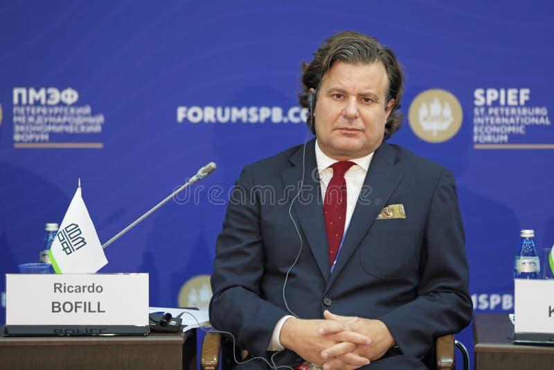 Ricardo Bofill Maggiora Vergano. SAINT-PETERSBURG, RUSSIA - JUN 17, 2016: St. Petersburg International Economic Forum SPIEF-2016. Ricardo Bofill Maggiora Vergano stock photo