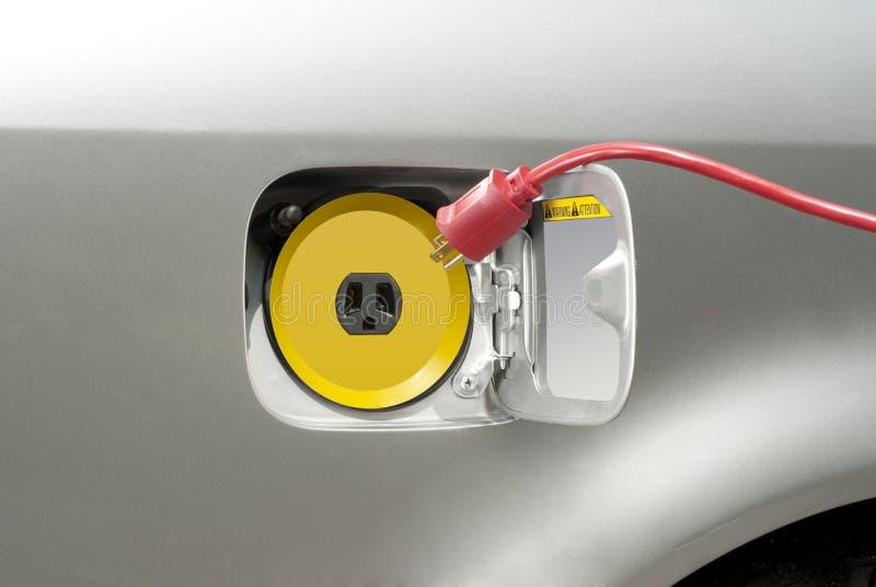 Ricarica dell'automobile elettrica immagine stock libera da diritti