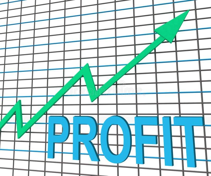 Ricchezza dei contanti di aumento di manifestazioni del grafico del grafico di profitto illustrazione vettoriale