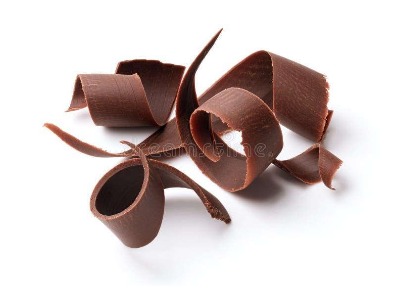 Riccioli del cioccolato fondente fotografie stock libere da diritti