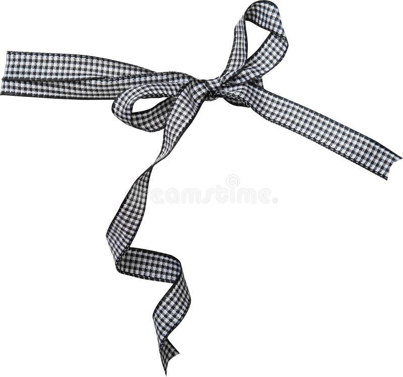 Ricciolo nero del nastro del controllo isolato su fondo bianco fotografie stock libere da diritti