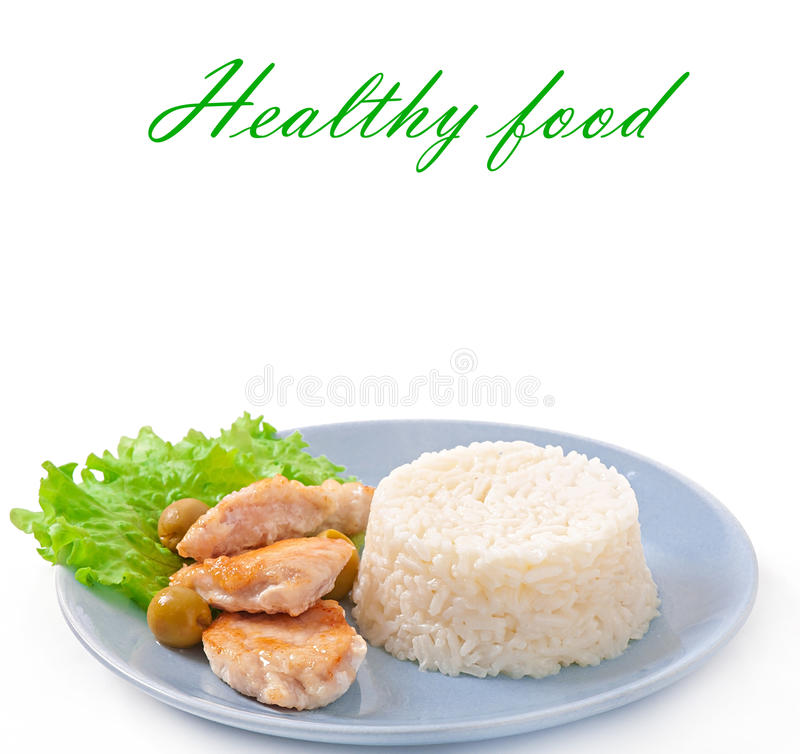 Free Rice And Fried Chicken Stock Photos - 35651253