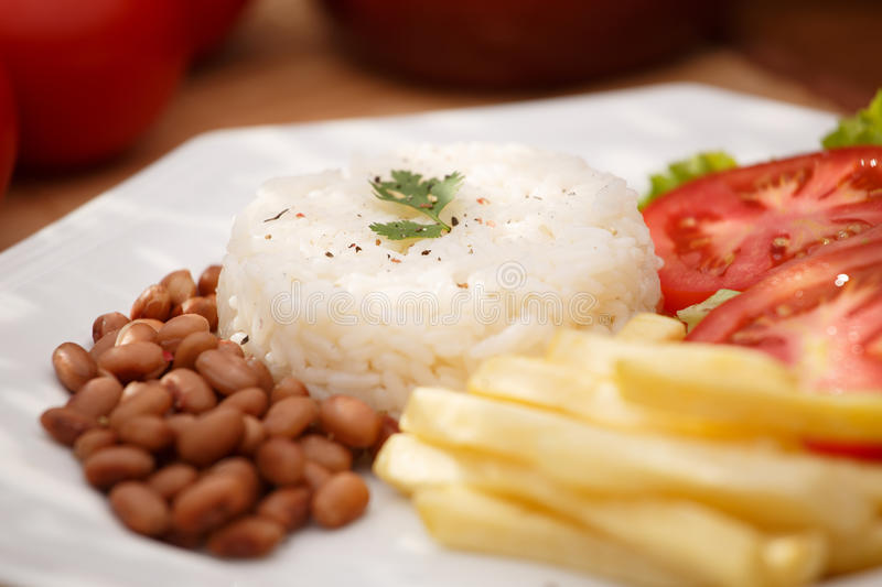 Rice and beans stock photos
