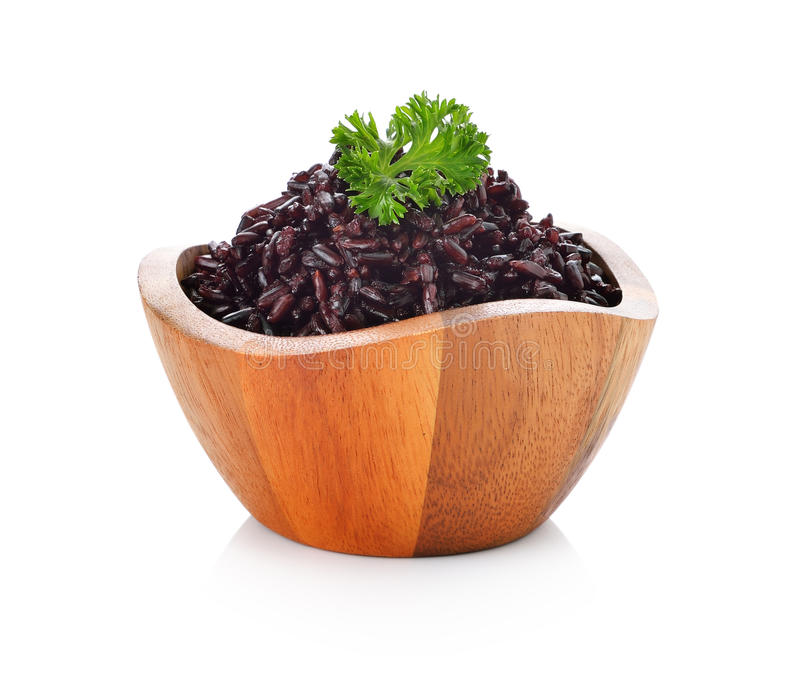 Rice berry in bowl royalty free stock images