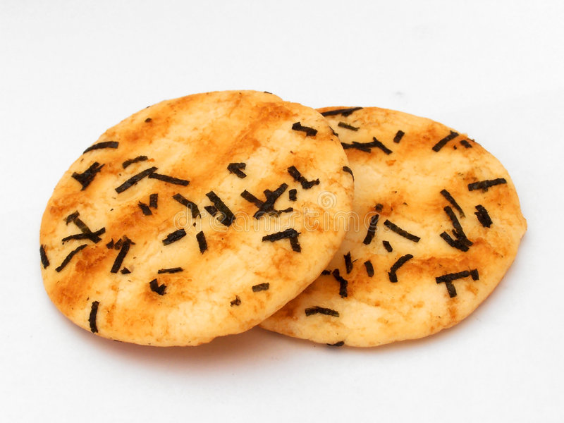 Rice biscuit stock image