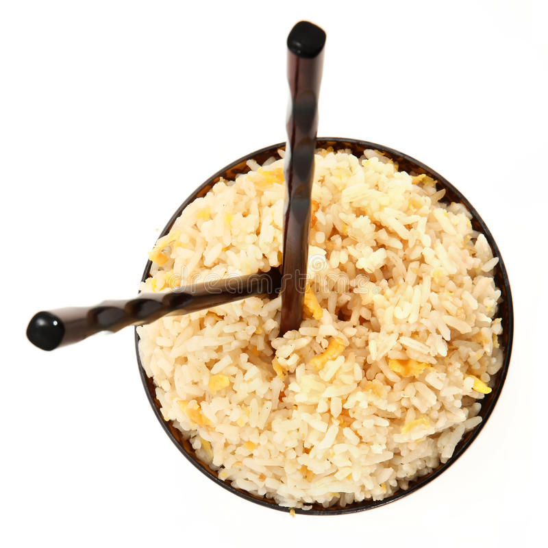 Rice Bowl with Vertical Chopsticks