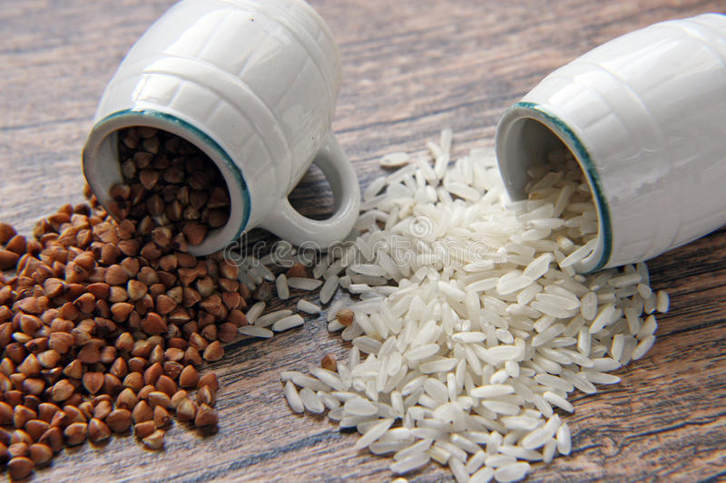 Download Rice and buckwheat stock photo. Image of agriculture - 23947402