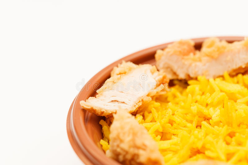 Rice with chicken royalty free stock photography