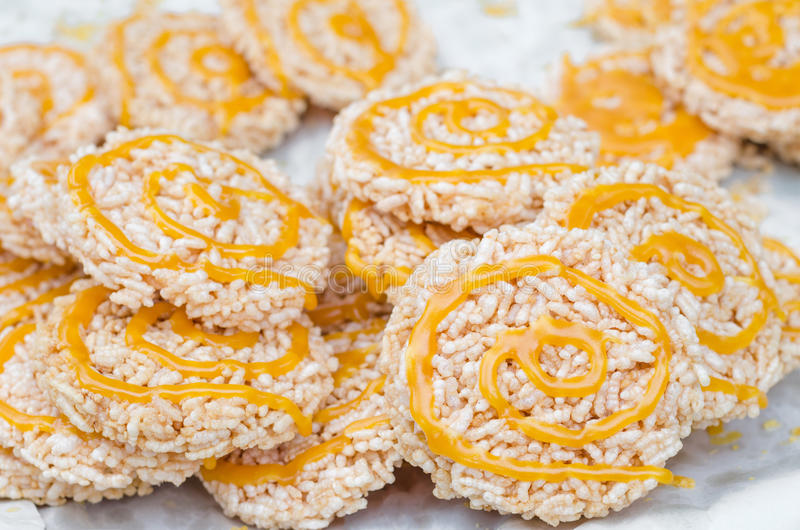 Rice cookie royalty free stock photos