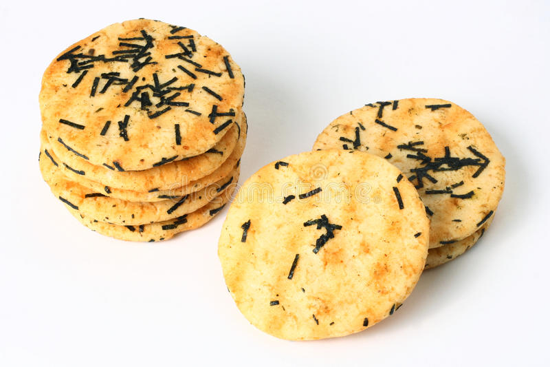 Rice cracker. Cracker that made out of rice stock photos