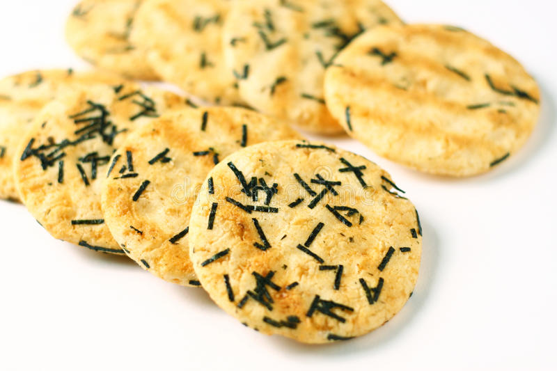 Rice cracker. Cracker that made out of rice royalty free stock images