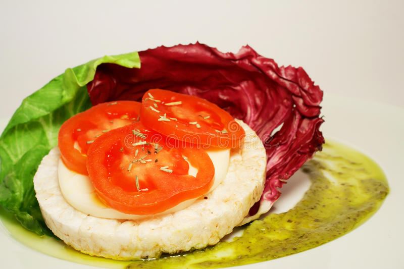 Download Rice Cracker And Tomato Starter Stock Image - Image: 24607695