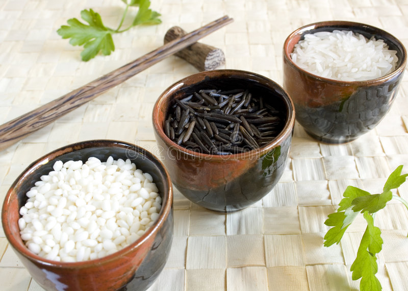 Rice cup stock image