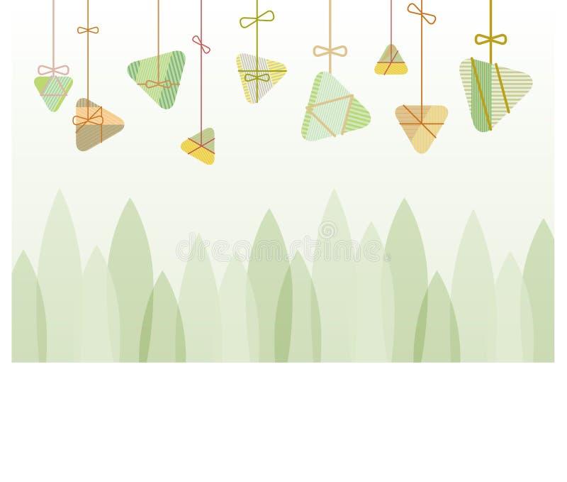 Rice Dumplings background graphic design for the dragon boat festival royalty free illustration