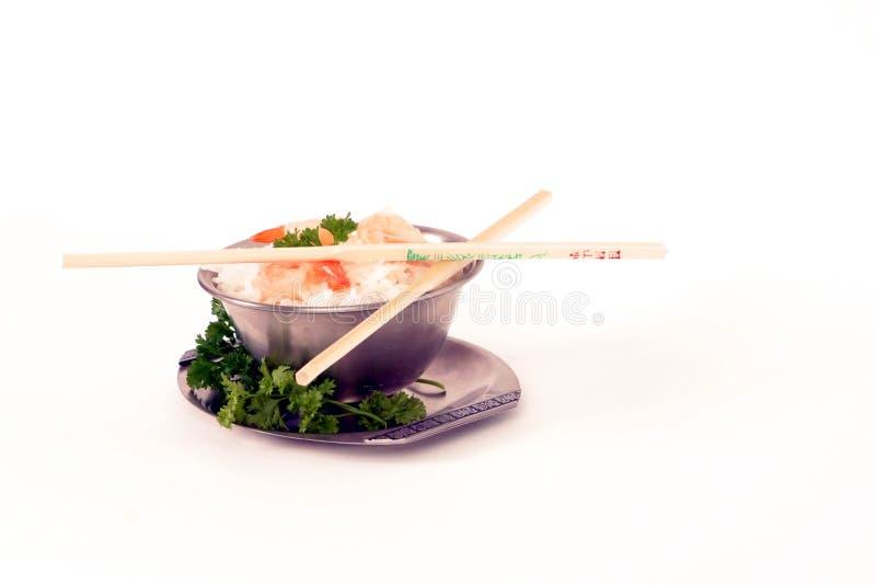 rice för 3 räkor royaltyfri bild