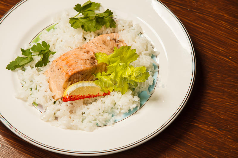Rice with fish royalty free stock photos