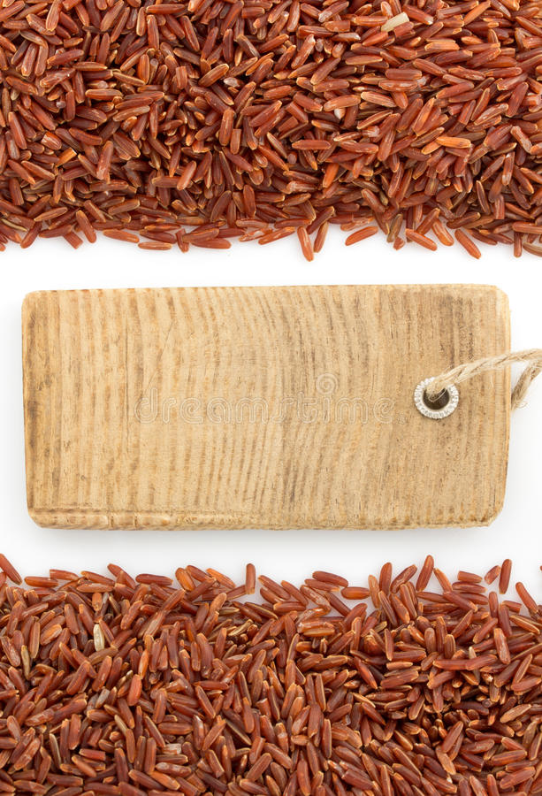 Rice grain on white stock photo