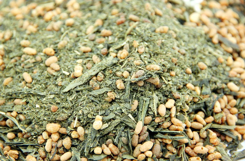 Rice Green Tea Stock Photography