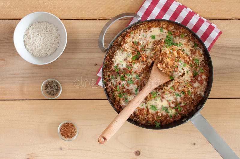 Download Rice with ground beef stock image. Image of rice, meat - 83704341