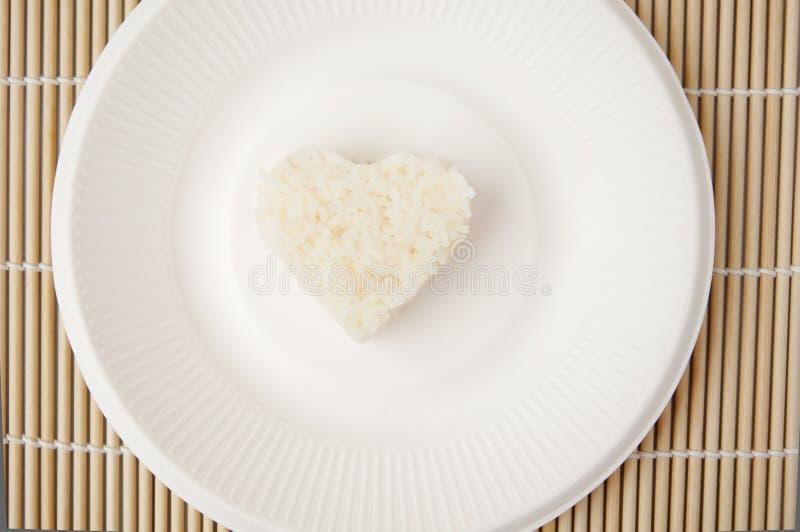 Rice Heart Shape Stock Photo