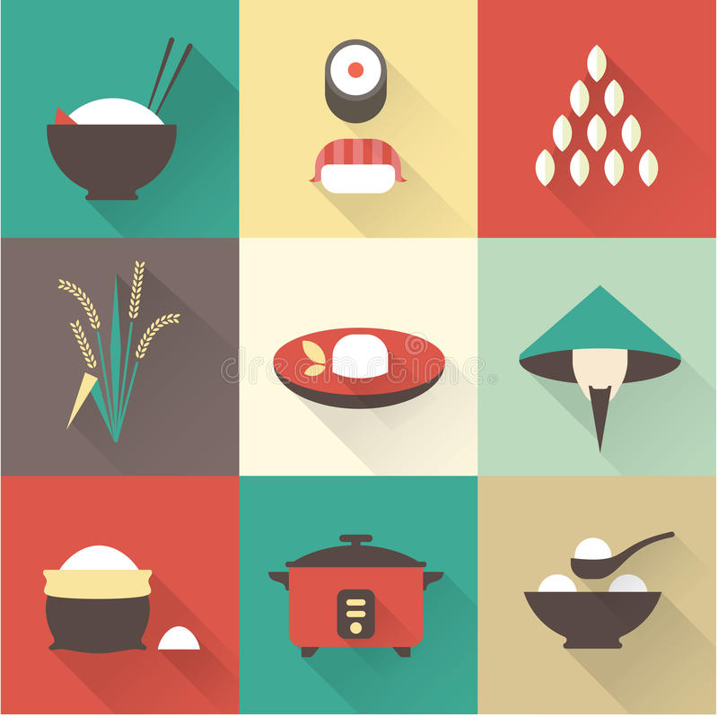 Rice icons vector illustration