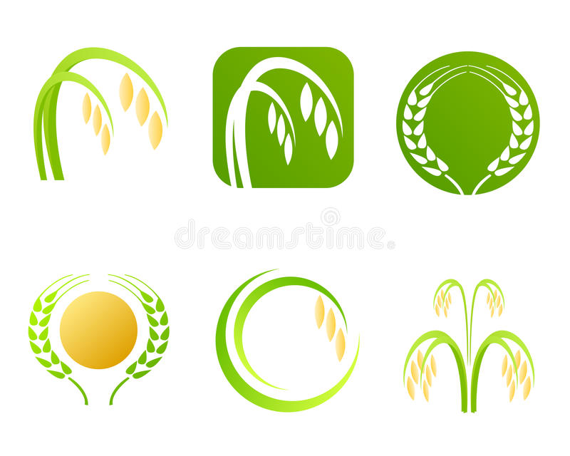Rice industry logo and symbols vector illustration