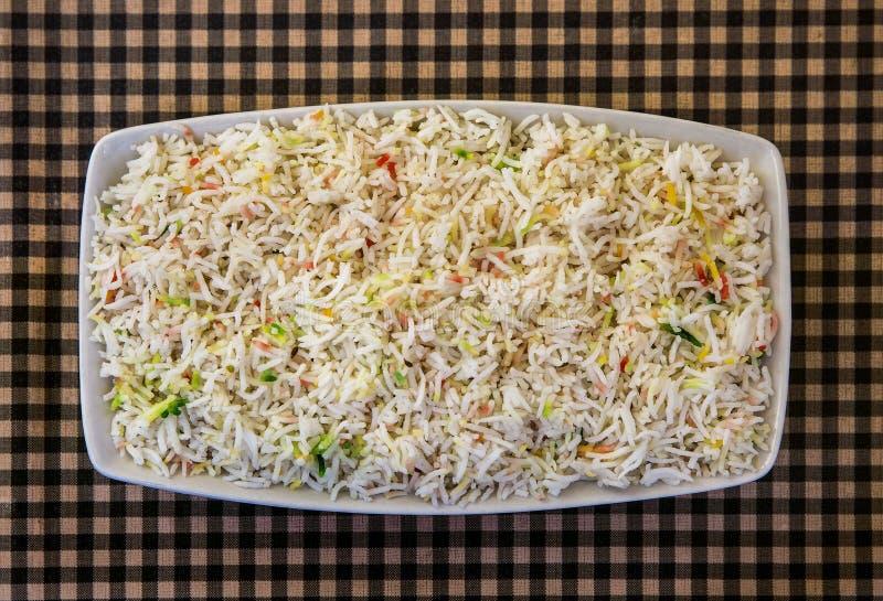 Rice med grönsaker arkivbilder